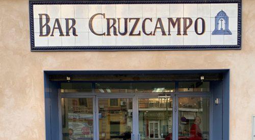 Comer en bar Cruzcampo en Sevilla Nervión